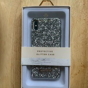 Nanette Lepore Protective Glitter Case iPhone XR